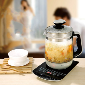 Hervidor eléctrico olla de salud totalmente automática agregar vidrio grueso multi-función de té hervido máquina de seguridad Auto-Off