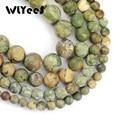 WLYeeS натуральный камень с матовой птичьей скалой, высококачественный зеленый очаровательный круглый свободный бисер 6/8/10/12 мм, аксессуары дл...