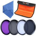 K&F Concept professional filter set 40.5mm UV+CPL+FLD+ND4 filters +blue cloth +4 slot filter pouch   free shipping