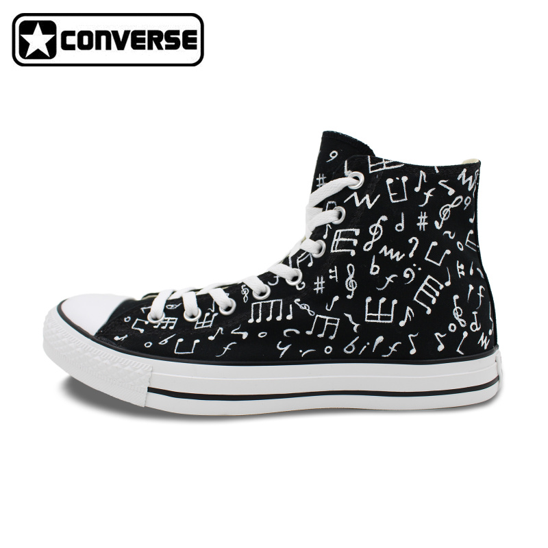 Classic Original Converse All Star Minim Musical Note Design Hand Painted Shoes Man Woman Sneakers Men Women Christmas Gifts  classic original converse all star minim musical note design hand painted shoes man woman sneakers men women christmas gifts