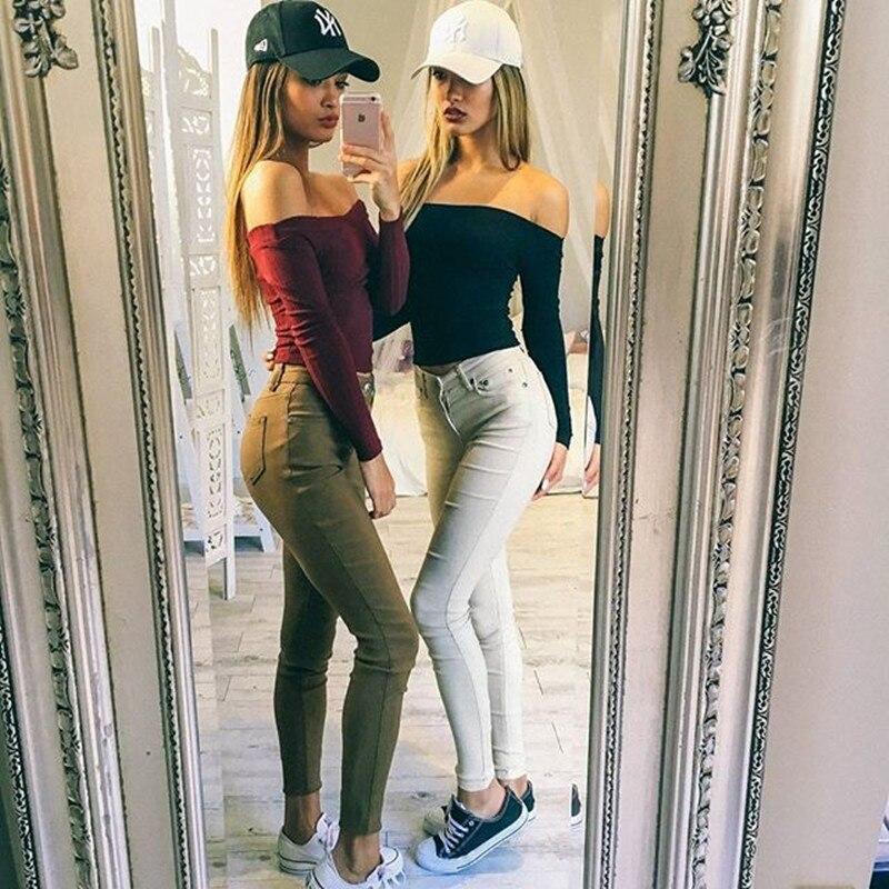 4bdbf4bea58d6 Gtpdpllt Summer Women Sweaters 2018 Sexy Off Shoulder Crop top Sweater Pull  Femme Short Casual Slim