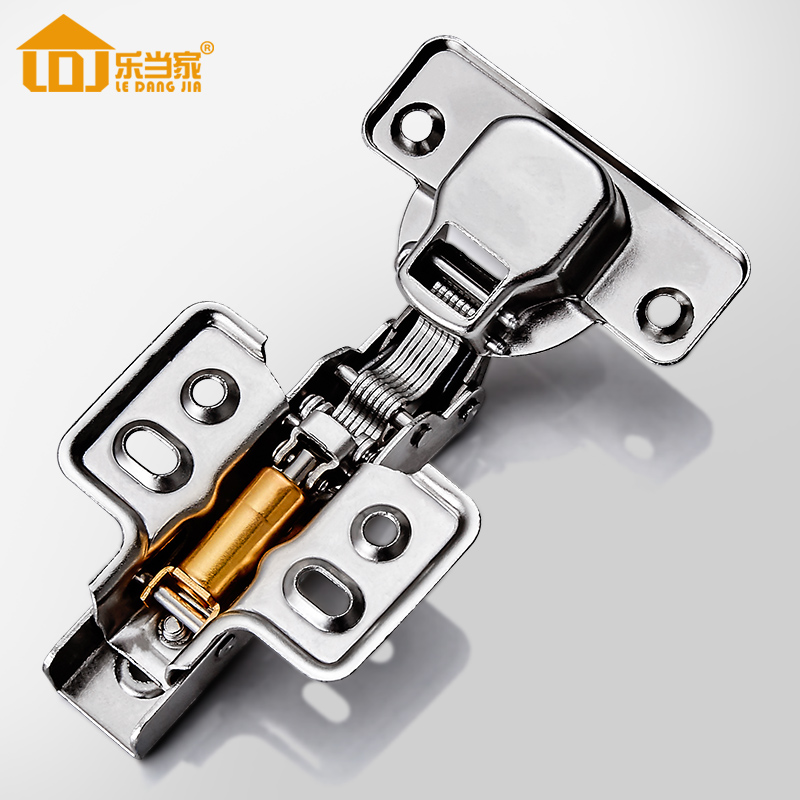 304 Stainless Hinges furniture Accessories Hardware Cabinets Box Door Cupboard Brass Hydraulic Damper Soft Close fixed Type 2pcs set stainless steel cabinet closet door hinges 90 degree self closing furniture hardware cupboard hinges