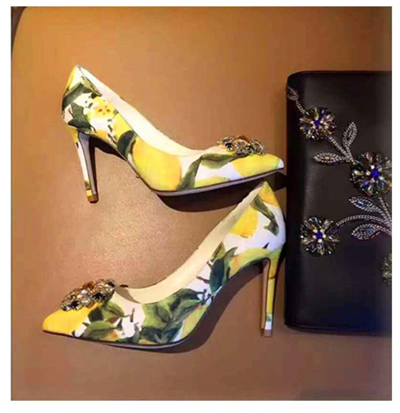 Chaussures Glitter As as Partie Show Talons Hauts Pointu Mariage Mode Femme Impression Stillettos Orteil Marque Show Strass De Pompes Bling Cristal Fleurs RnxUtwanSq