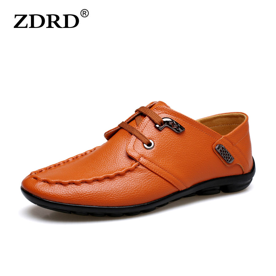 ФОТО ZDRD 2017 Spring new men's shoes casual shoes leather shoes men slip resistant lightweight and comfortable men's flat