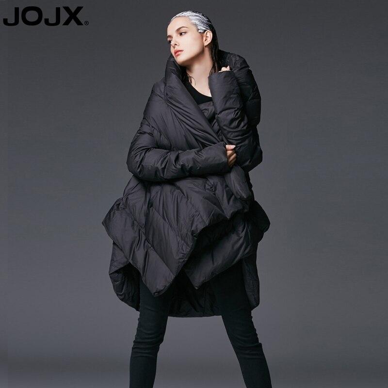 JOJX damska kurtka zimowa płaszcz 2018 nowy Temperament nieregularne luźna kurtka parka kobiety dół płaszcze zimowe ciepła kurtka damska odzież wierzchnia w Parki od Odzież damska na  Grupa 1