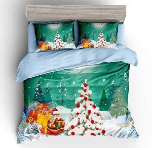 Image 4 - Wazir 3D Kerst Print Bedding Set Dekbedovertrek Kussenslopen Trooster Beddengoed Sets Thuis Textiel Beddengoed Beddengoed