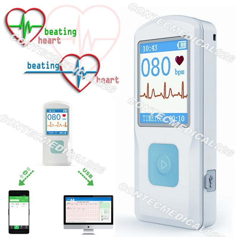 NEUE Farbe LCD ECG ekg MASCHINE PM10, Bluetooth übertragung, einfach überprüfen