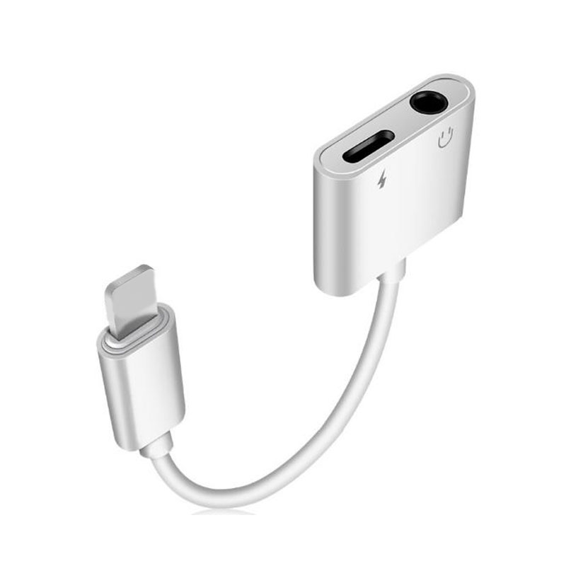 For IOS 11 12 Adapter 3.5mm Aux Jack Headphone Earphones Audio Splitter Cable Charging Music For Iphone X XS Max XR 7 8 Plus