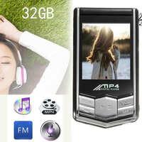 Mayitr 1pc 32GB 1 8 LCD Screen Digital MP4 Player Music Video FM Radio Earphone USB