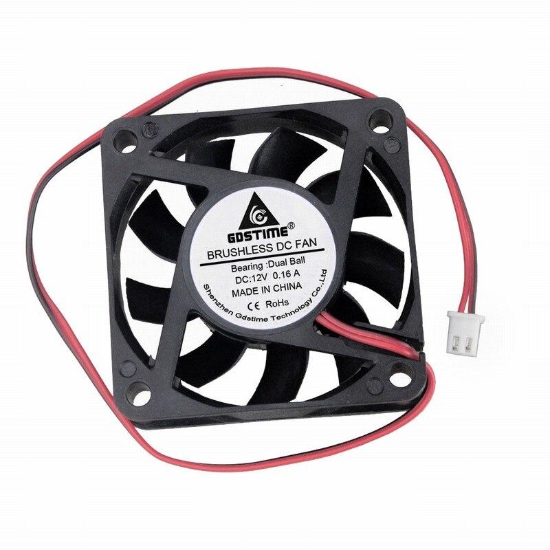 Купить 2 шт gdstime dc 12 в 60x60x15 мм бесщеточный охлаждающий вентилятор