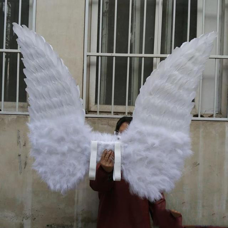 Costumized Adult's large white angel feather wings Cosplay photography Game Display fashion show props Pure handmade