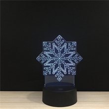Snowflake Flower LED 3D NightLight Acrylic Night Lamp Light Luminary With Touch And Remote Lamps Lights Kids Decoration Mylamp