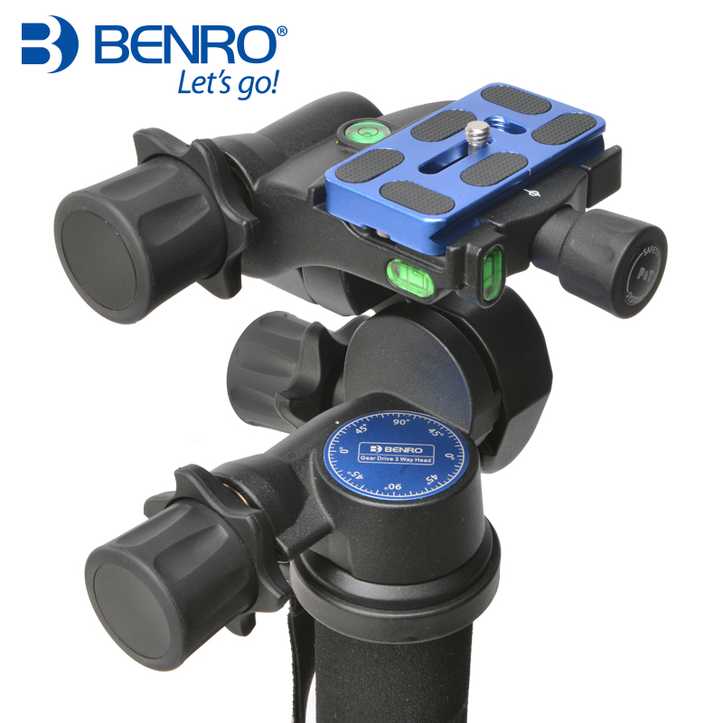 benro GD3WH three-dimensional, gear head, black magnesium alloy material Camera tripod head 360┬░ two handle hydraulic damping three dimensional tripod head for camera black