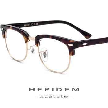 8b791622a2 Montura de gafas de acetato de Metal para hombres gafas de prescripción de  ojos redondos para mujeres montura óptica de miopía de Metal gafas