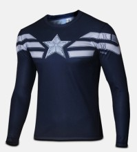 2016 Marvel Avengers Captain America 2 winter soldier deadpool Costume 3d Superhero T shirt Men Long sleeves new tshirt homme