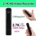 Mini Câmera portátil 2.7 K 30fps Mini DV 1080 P Full HD 60fps Caneta Gravador de Voz Da pena Da Câmera Micro Câmera Espia Camara DVR Vídeo