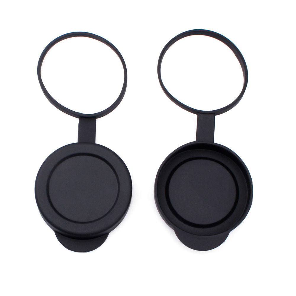 2 Pieces Binoculars Protective Rubber Objective Lens Cap 42mm for Telescope with Outer Diameter 52-54mm