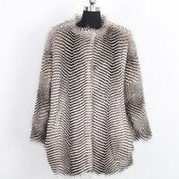 Nerazzurri Winter Faux fur coat gradual color collarless vintage warm fake fur jacket furry hairy outwear plus size 5xl 6xl 7xl