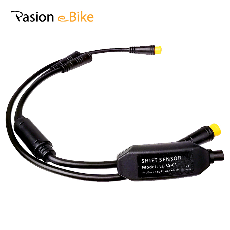 Mid Motor Gear Sensor For BAFANG BBS01 BBS02 BBSHD 3 Pin In One Connector 24CM Shift Sensor With Y Cable For BAFANG Gear Sensor