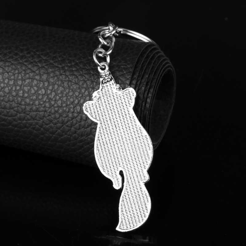 LLavero de joyería único MQCHUN Alicia en el país de las Maravillas gato Cheshire colgantes llavero de dibujos animados llaveros para Mujeres Hombres regalo-50