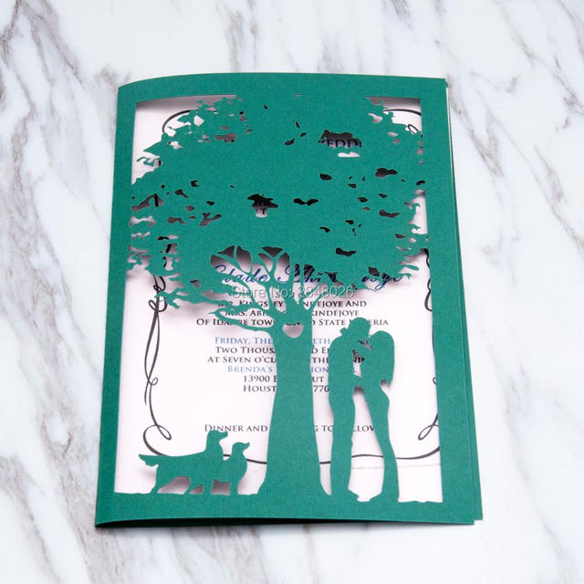 50 Sztuk Spersonalizowane Pary I Zwierzęta Drzewo Z Serca Laserowo