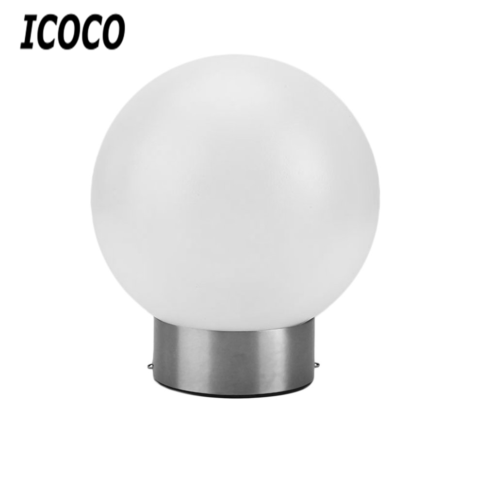 ICOCO Stainless Steel LED Round Ball Solar Tree Hanging Light Landscape Lantern For Garden Fence Decoration Bright Outdoor Lamps