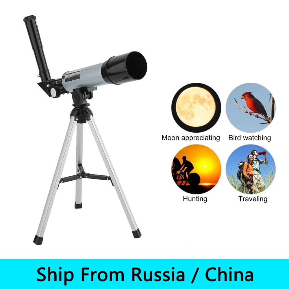 (Navire De Russie/Chine) Réglable Lunette Lunette Astronomique Télescope Monoculaire Avec Trépied Pour Les Débutants