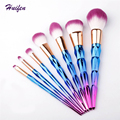 7pcs Makeup Brushes Set Diamond Rainbow Handle Cosmetic Tools Powder Foundation Unicorn Brush 20sets/lot (YP0129)