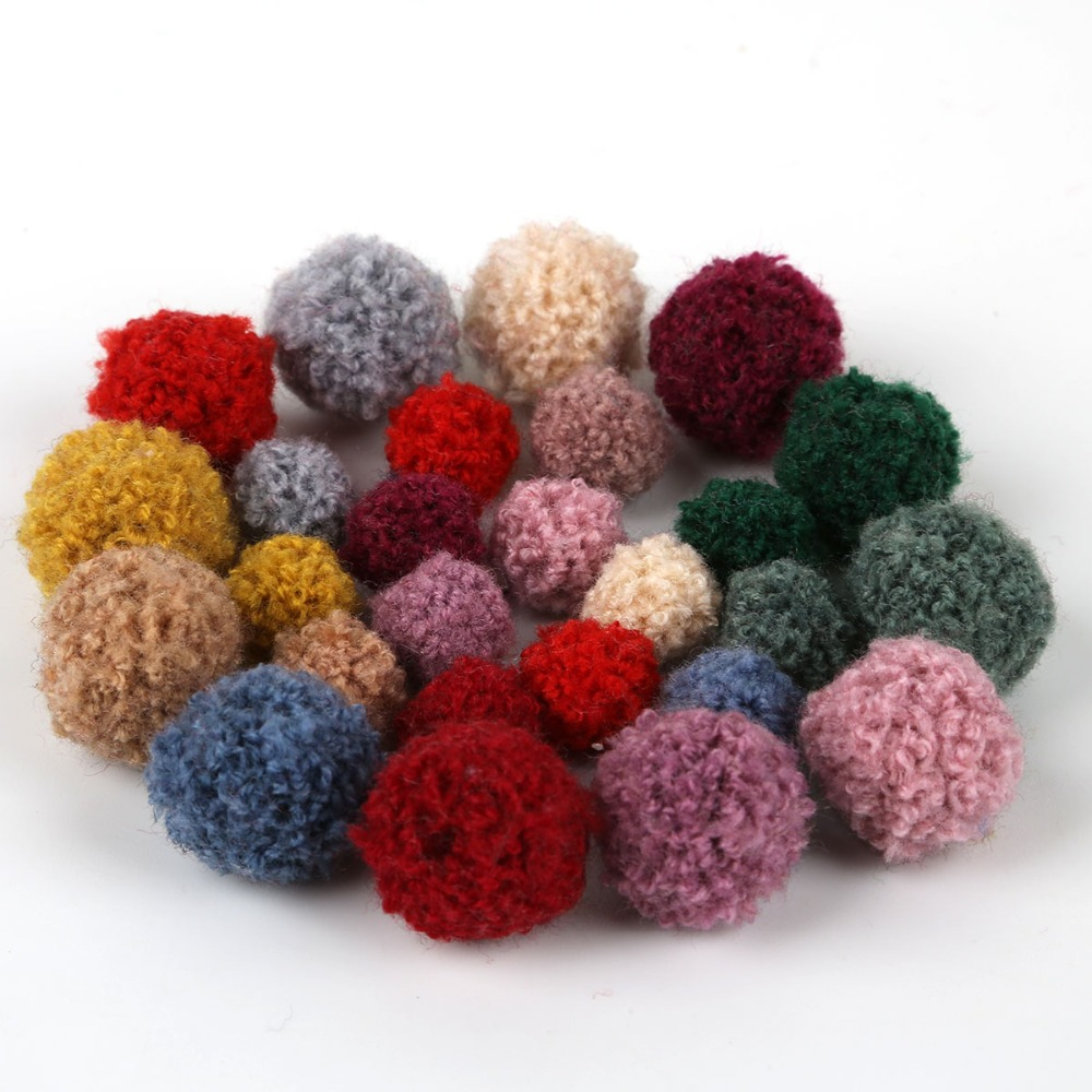 So Cute Pom Poms Pack of 50 Multi-Coloured 10mm Fluffy Pom Pom Balls