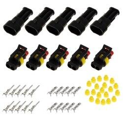 15 zestawów IP68 Sealed Female/Male wtyczka przewodu elektrycznego wodoodporna 2/3/4 Pins Way For Car Auto