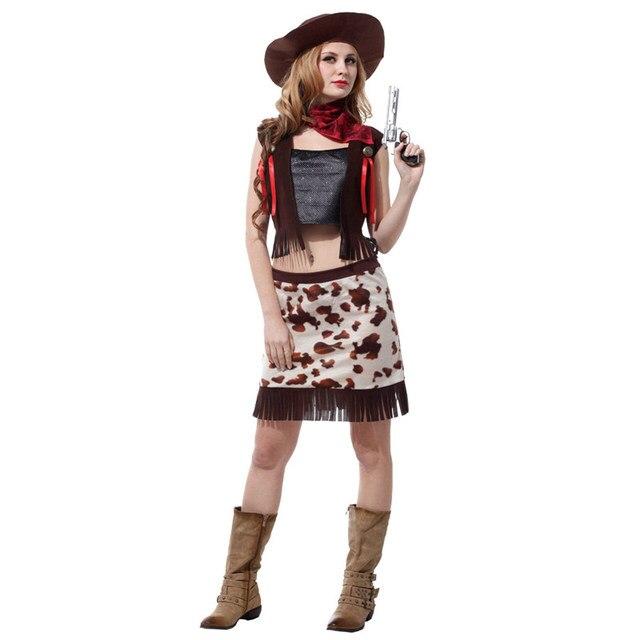 958eeb8564 Vaquero del oeste adulto unisex Cosplay traje rendimiento conjunto mujer hombre  Halloween party Fancy fantacia feminina. Sitúa el cursor encima para ...