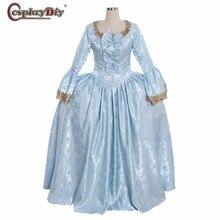 Cosplaydiy 18 век королева принцесса платье колония рококо Белль платья Марии Антуанетты барокко Бальное Платье синее на заказ