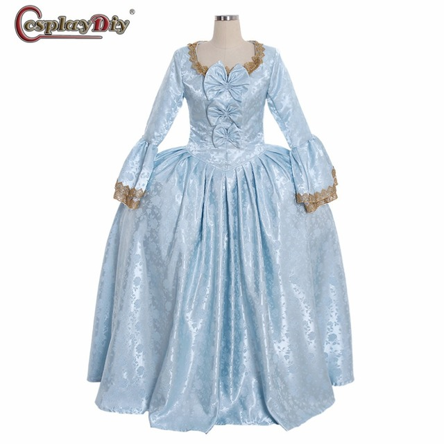 Cosplaydiy 18th Century Queen Princess Dress Colonial Rococo Belle Dresses  Marie Antoinette Baroque Ball Gown Blue Custom Made 5fe706ab7b33