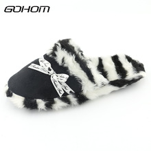 Здесь можно купить  GOHOM Best New 4 Color Style Faux Suede Warm Women Home Slippers Spring/Winter Good Plush/ Polyester Indoor Slippers