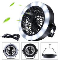 Portable Lanterna Led Camping Light With Fan Camping Lamp 12 Led Flashlight Work Light USB AA Battery Powered Torch For Tent