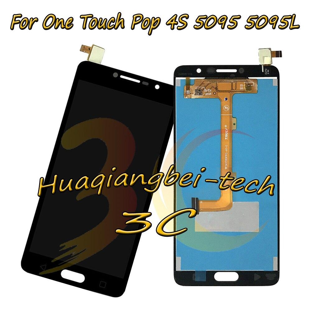 5,5 ''Новый Для Alcatel One Touch Pop 4S 5095 5095L 5095Y 5095I 5095B Полный ЖК дисплей + кодирующий преобразователь сенсорного экрана в сборе 100% протестирован