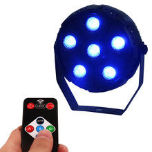 SHEHDS Wireless Remote Control LED Par 6x3W RGB Lighting LED Sound Control Lighting Effect Master-Slave