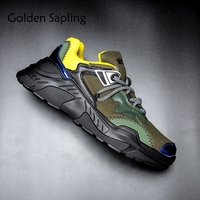 Golden Sapling Breathable Running Shoes Man Sneakers Air Mesh Men's Shoes Sport Trail Run Male Trainers Army Green Sneakers Men