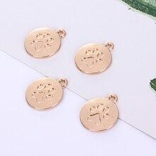 Dog accessories Dog footprint pendant accessories DIY bracelet necklace pendant accessories