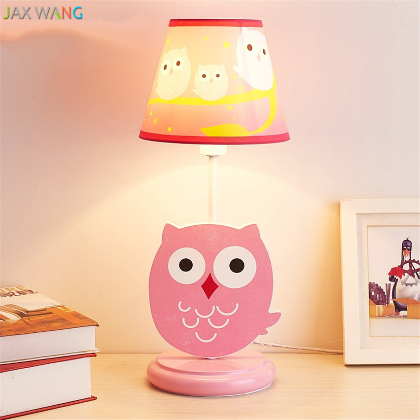 American Creative Owl Table Lamp Fabric Lampshade Desk Light For  Children/girl Bedroom Bedside Study Lights Fixtures Decoration In Desk Lamps  From Lights ...