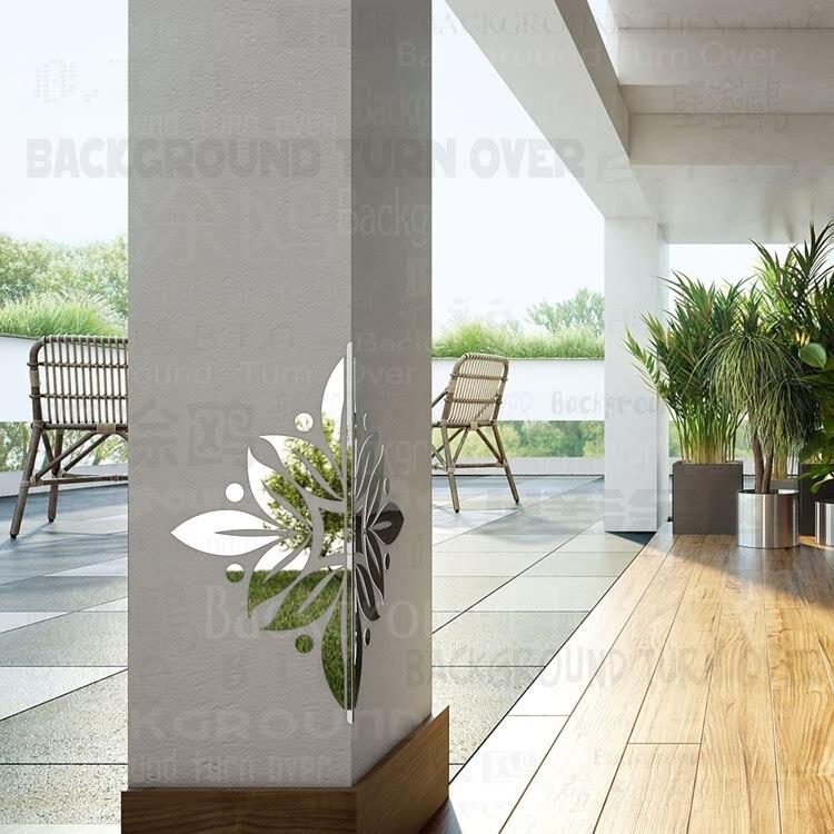 Fleur fleurs motif décoratif mur coin protecteurs 3d miroir Stickers muraux salon chambre décoration coin garde C020