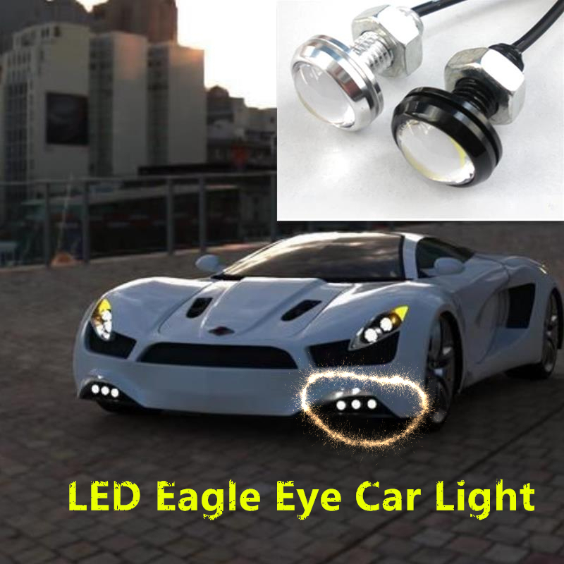 Free Shipping 2PCS 23mm High Brightness DRL Eagle Eye Daytime Running Light LED Car Working Light Source Waterproof Parking Lamp koito led double light lens modified led light source led high brightness over the xenon lamp high quality free shipping