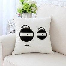 BZ076 Emoticons Pillowcases Pillow Cover Washable Cotton Case Home Textile 45cm*45cm/18x18Inch