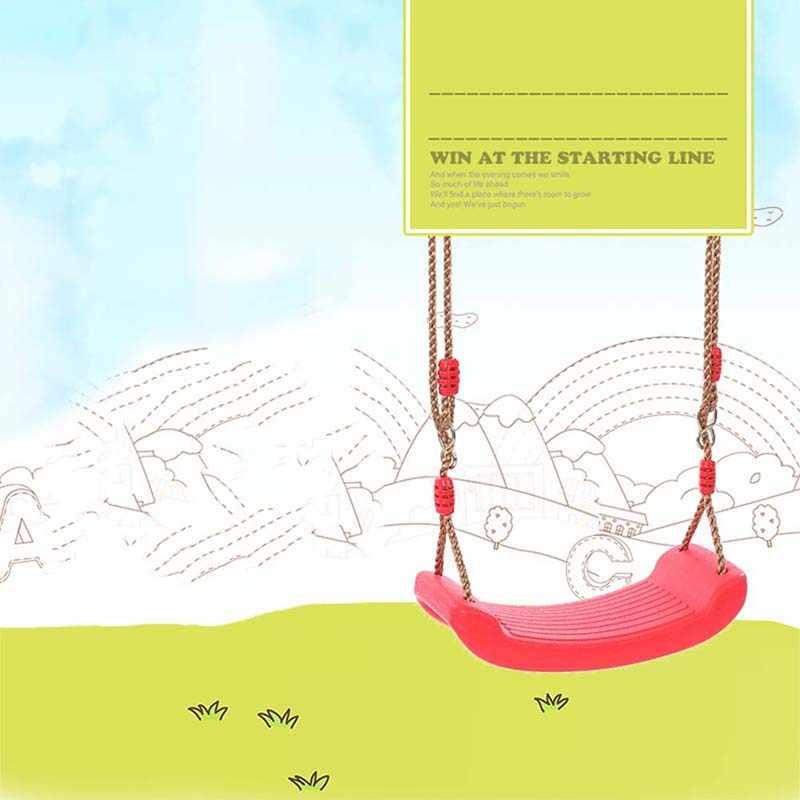 Детские качели крытый дворик на открытом воздухе Качели ремень окружающей среды Пластик садовые качели веревки сиденье висит литой для детей игрушка