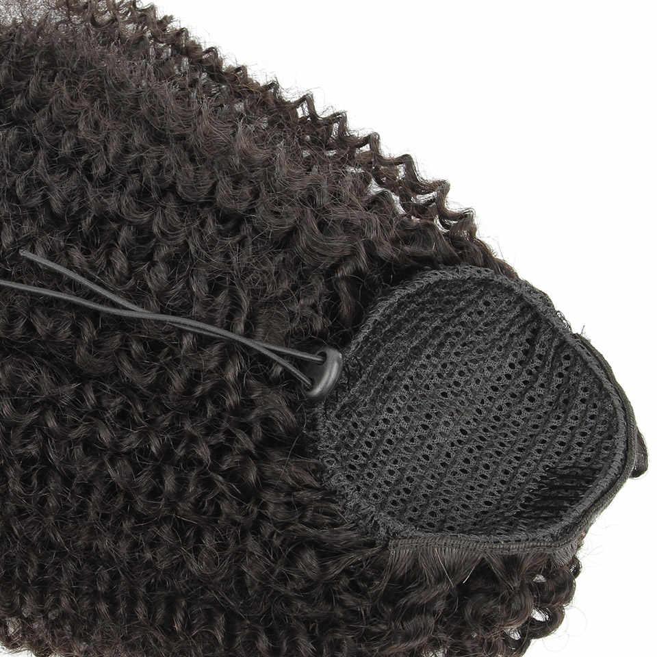 Yvonne бразильские кудрявые шнурки прическа «конский хвост» клип в расширениях натуральный цвет 1 шт.