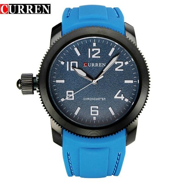Curren Relojes Hombre left-hander Wrist watch quartz men luxury famous brand Quartz Clock Vogue men Wristwatch rubber new 4