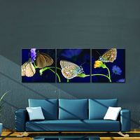 Beauty Butterflys Smell Sweet Among The Flower Canvas Prints Decorative Wall Painting Definition Print On Waterproof