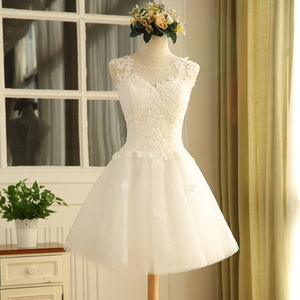Image 3 - Short off shoulder white sweat lace lady girl women princess bridesmaid banquet party ball dress gown