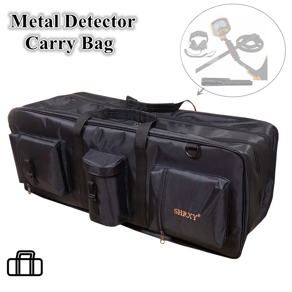 Metal Detector Carry Bag Portable Waterproof Canvas Storage Bag Double-layer Carry Tools Organizer Backpack For Metal Detector