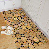 Removable Non Slip Floor Stickers Round Wood Pattern Self Adhesive Tile Art Wall Decal Sticker DIY